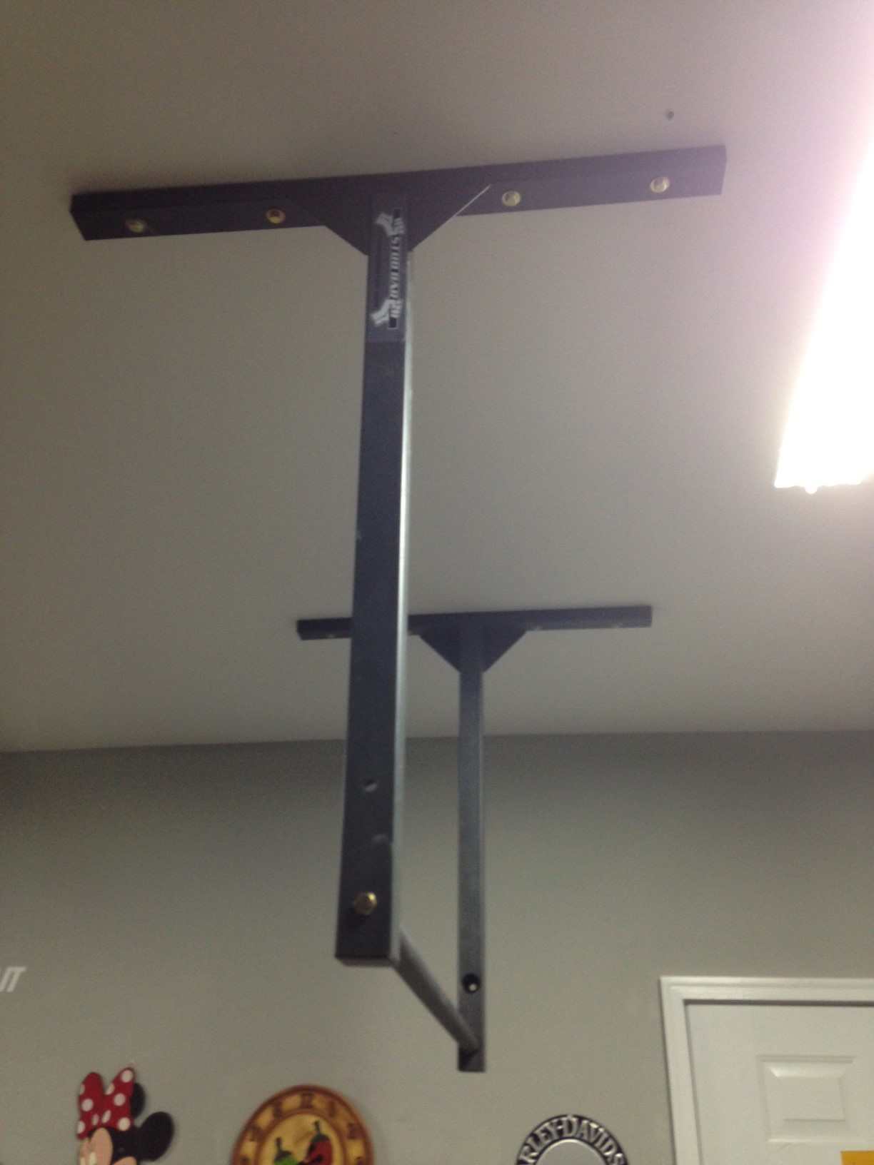 Extra large long adjustable pull up bar studbar pullup for Pull long et large