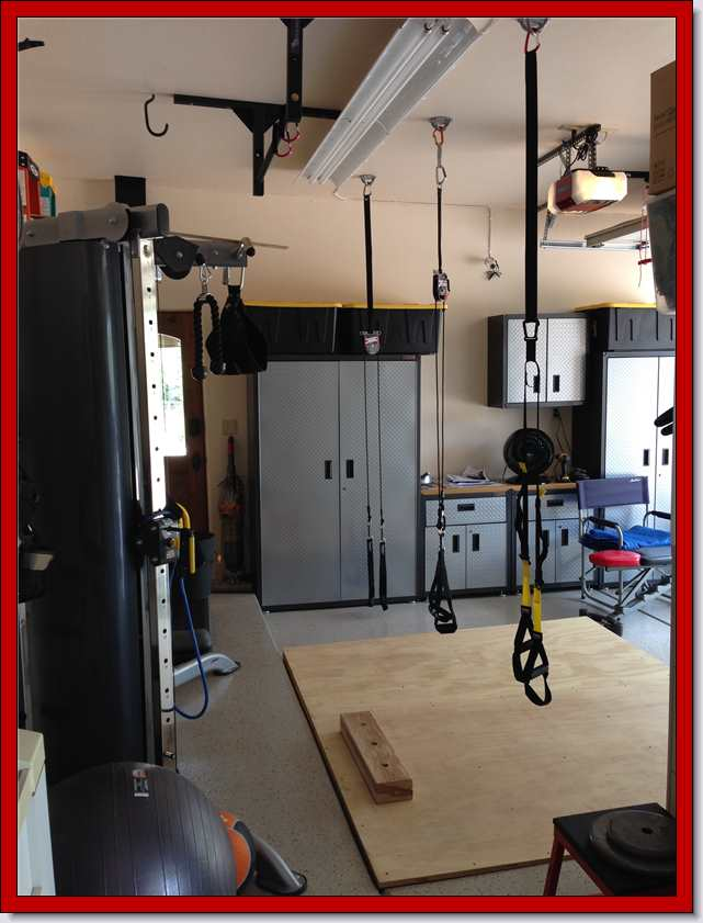 Garage gym studbar pullup