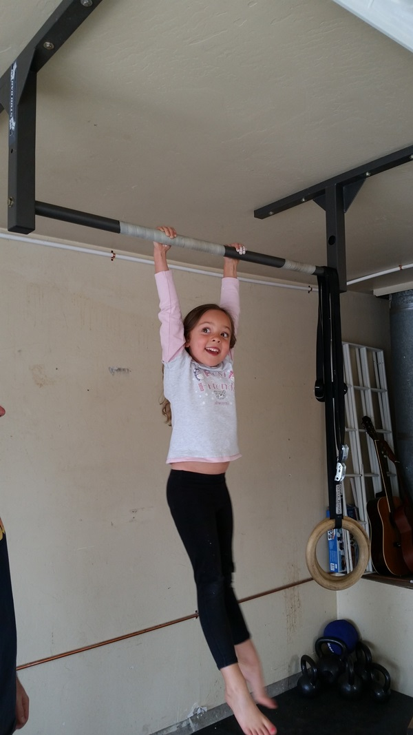 Short Low Ceiling Pull Up Bar Ideal For Young Gymnasts