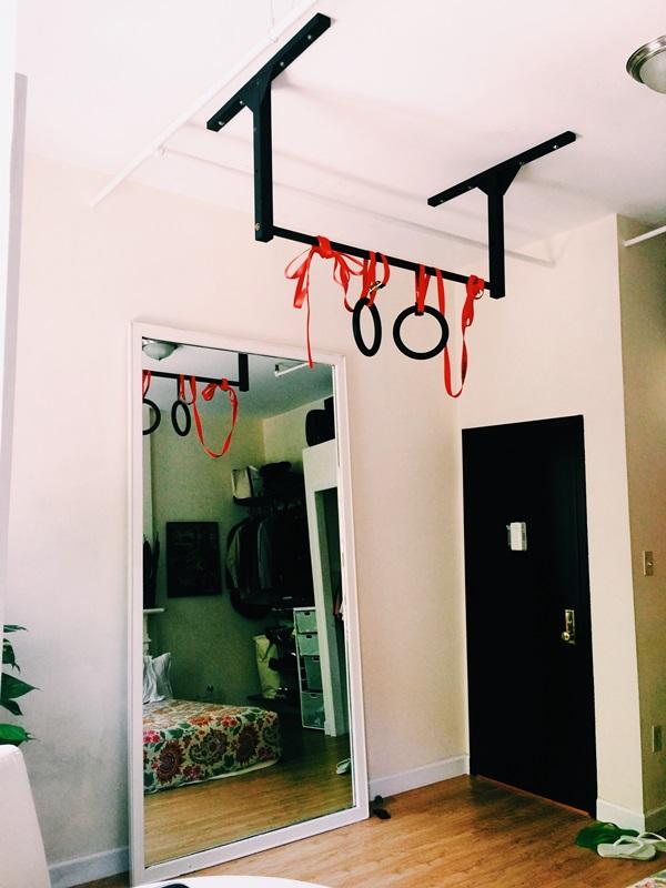 New York City Apartment Pull Up Bar Loft Home Gym Stud