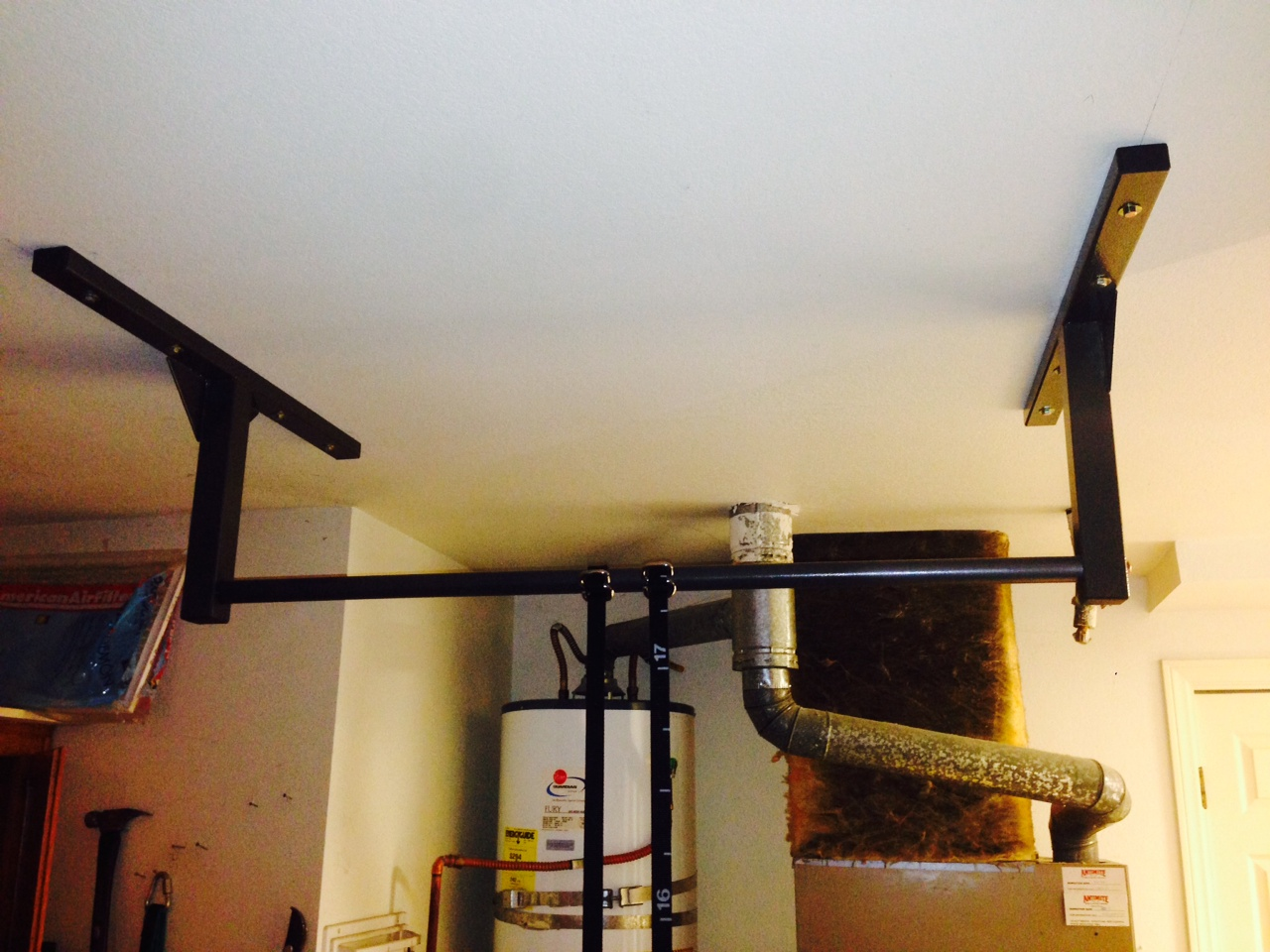 bar up teamripped the david garage with pull tiles ceiling jeffries diy fixed