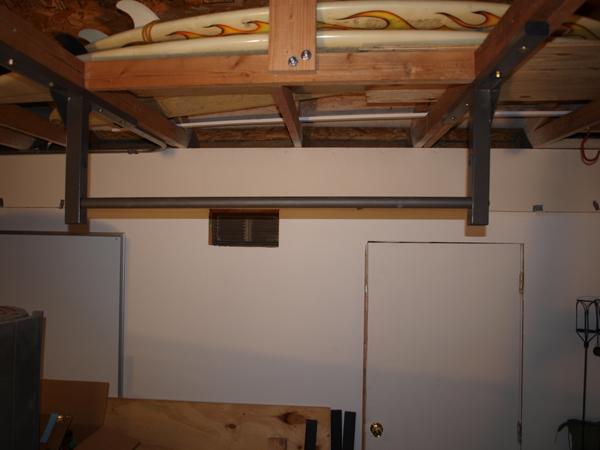 stud bar chin-up bar squared - stud bar - ceiling or wall mounted
