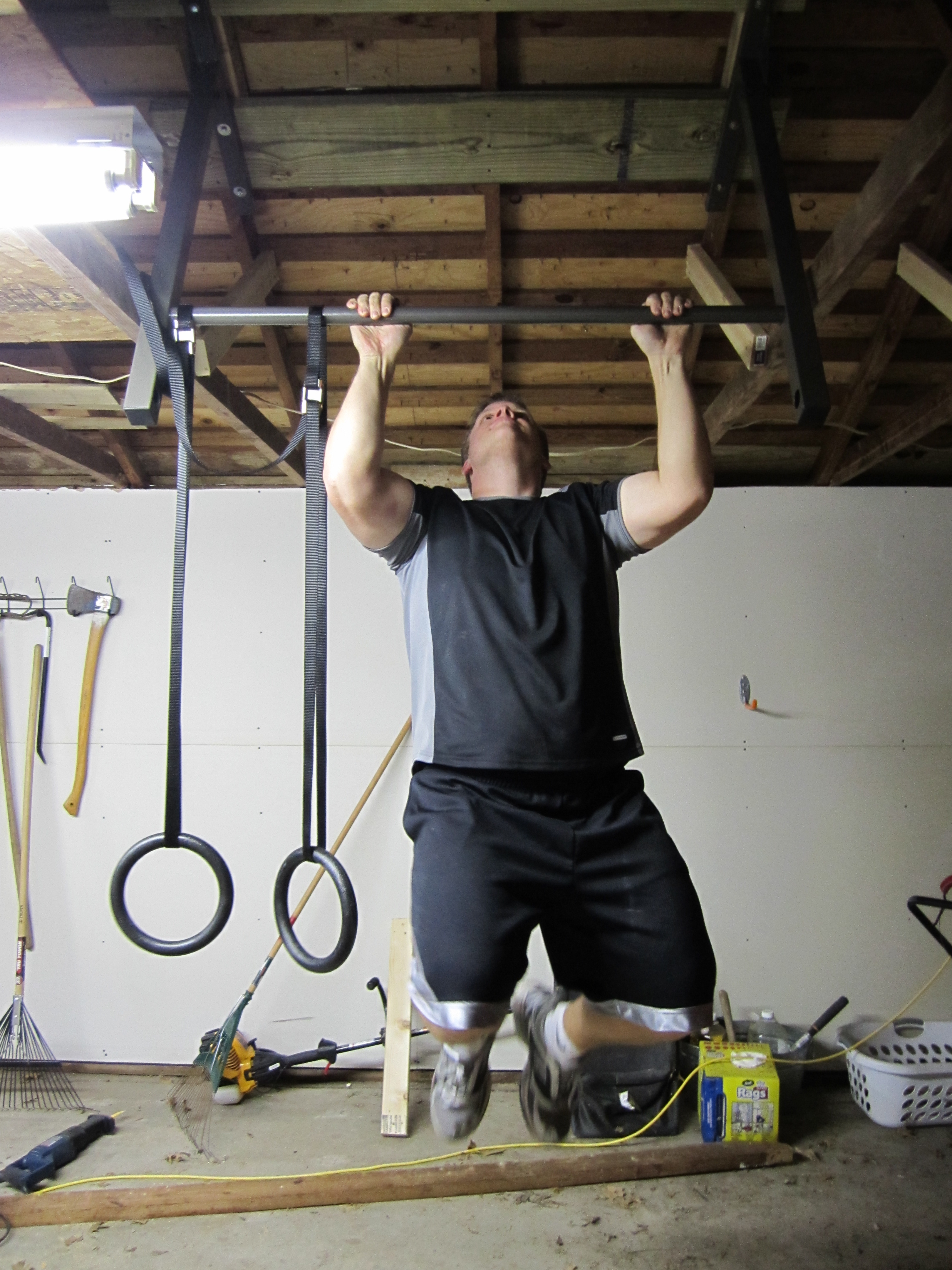 Turn Your Man Cave Into A Home Gym Stud Bar Ceiling Or