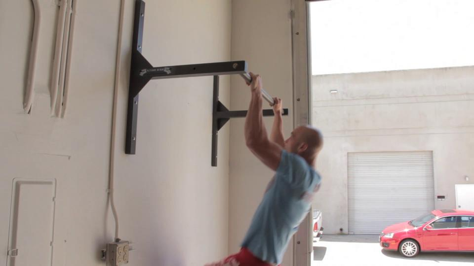 What 39 s better ceiling or wall mounting my pull up bar for How to build a wall bar