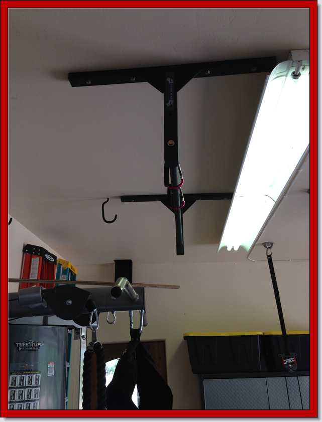 Garage gym stud bar ceiling or wall mounted pull up