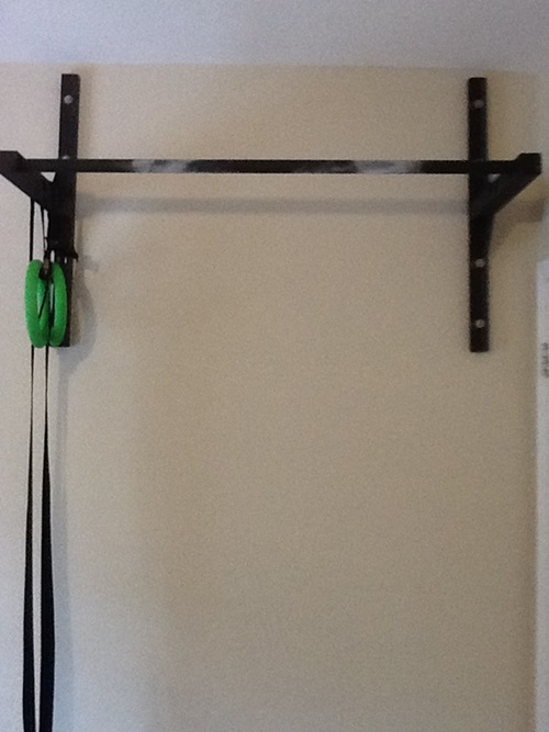 Garage wall pull up bar stud ceiling or