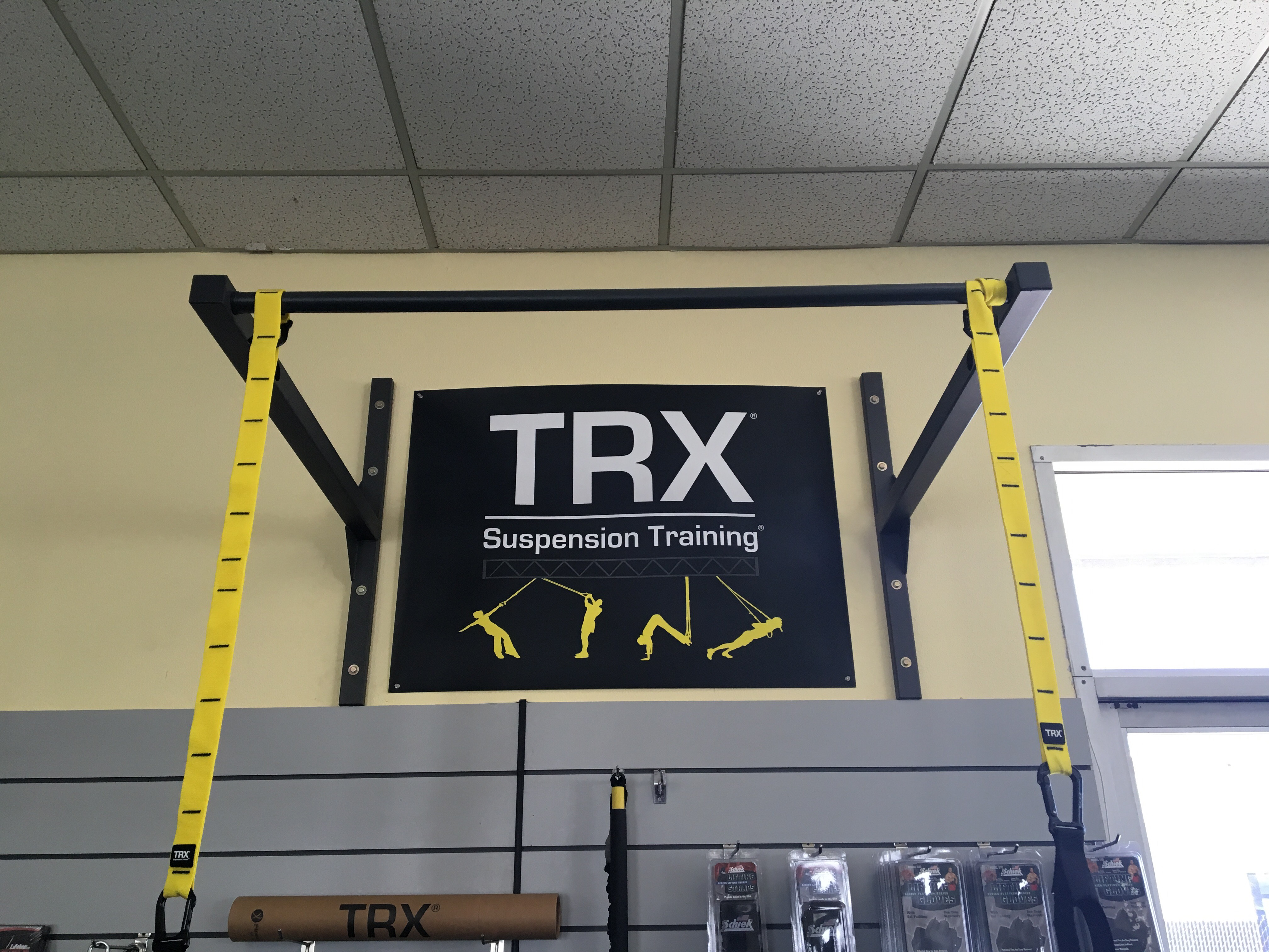 Wall Mounted Trx Pull Up Bar Stud Bar Ceiling Or Wall