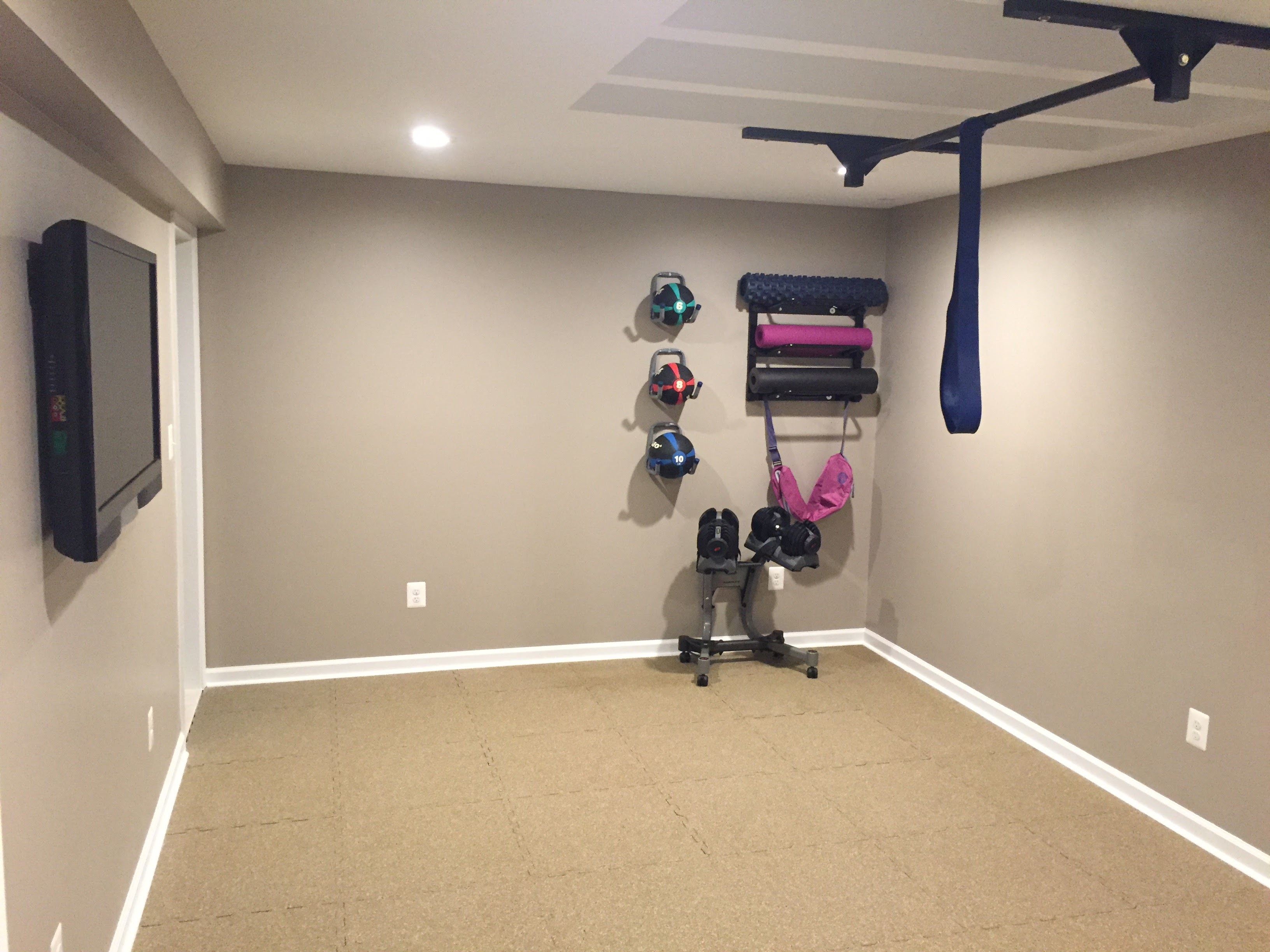 7 Ft Ceiling Custom Pull Up Bar