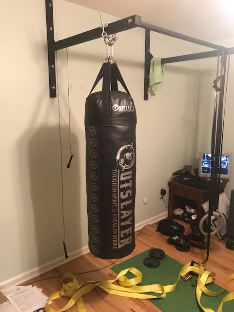 Pull Up Bar Punching Bag